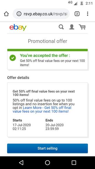 Ebay 50 Off Final Value Fee Invitation Only Hotukdeals