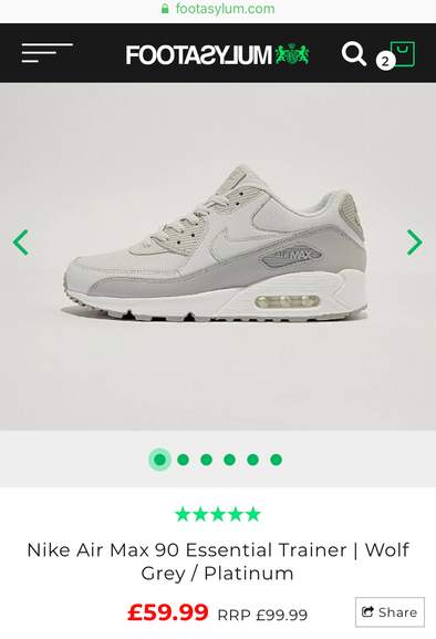 Nike Air Max 90 Essential Trainers £59.99 - Size 8 Footasylum size 6 ... 8be7aec26c26