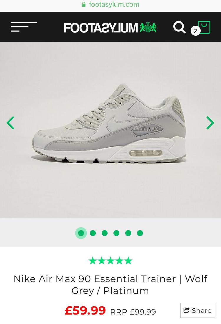 Nike Air Max 90 Essential Trainers £59.99 - Size 8 Footasylum size 6 ... 6b1a2b6d0