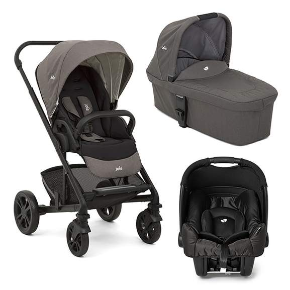 The Joie Chrome Travel System And Car Seat Bundle Includes A Chassis Unit Featuring An Extendable Canopy With Visor Window Carrycot
