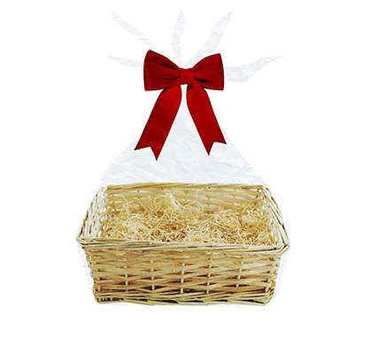 Make your own christmas hamper baskets ribbons tissue gift small hamper basket 4 solutioingenieria