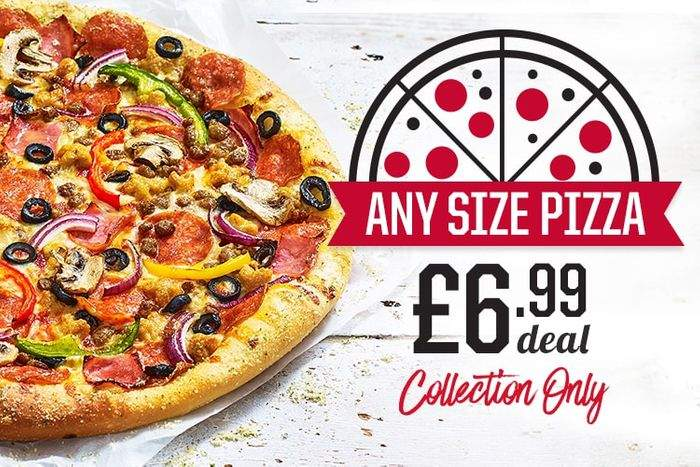 Any Size Pizza 699 At Dominos Junction 32 Castleford