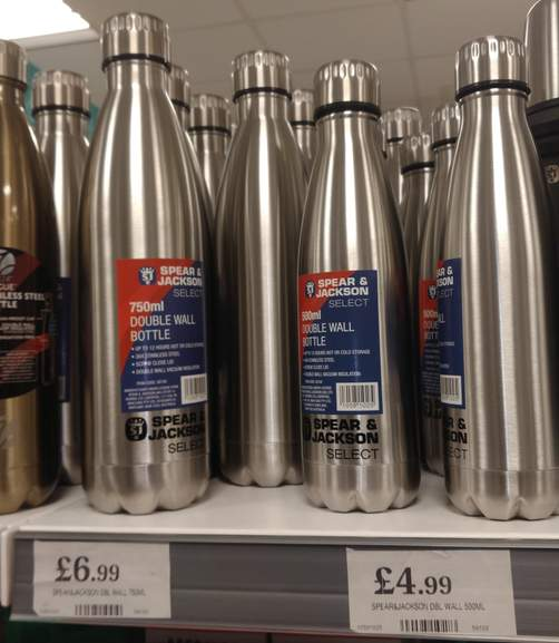 Spear & Jackson Select 1 1L Vacuum Flask, 12 Hours Hot Or