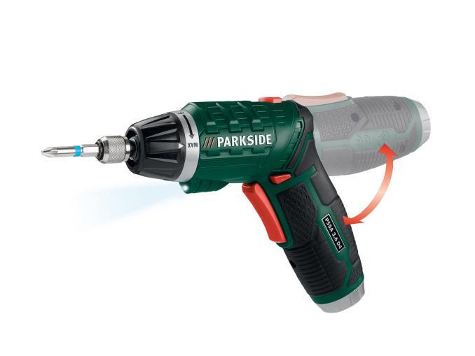 parkside 3 6v li ion cordless screwdriver lidl. Black Bedroom Furniture Sets. Home Design Ideas