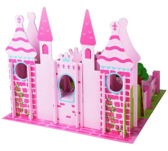 Chad Valley Wooden Fairy Castle Playset With 10 Figures Was 4999