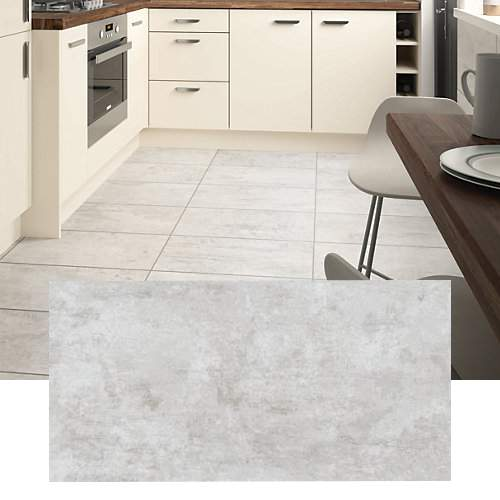 Wickes City Stone Grey Ceramic Tiles 600 X 300mm Pack Of