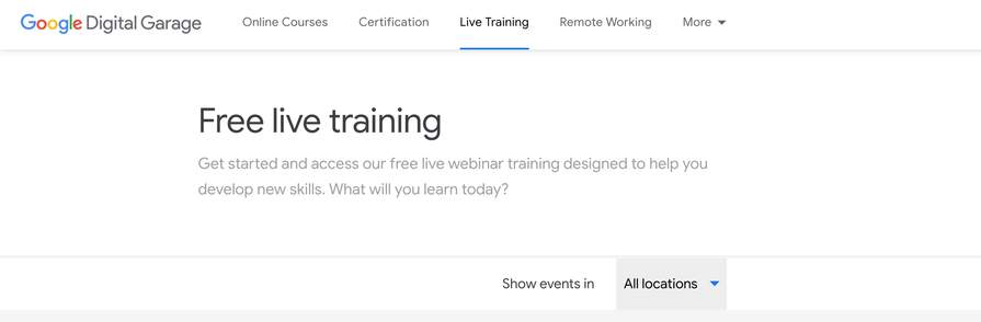 Join one of our free live training sessions must