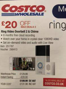 Ring Video Doorbell 2 & Chime with 6 months free cloud recording