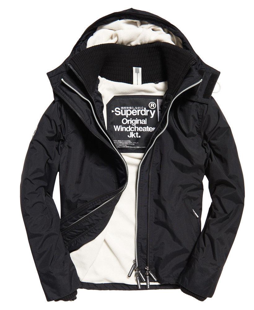 706f0b023a4e Mens Superdry Pop Zip Hooded Arctic Sd-Windcheater Black Rock £35.99 (XS