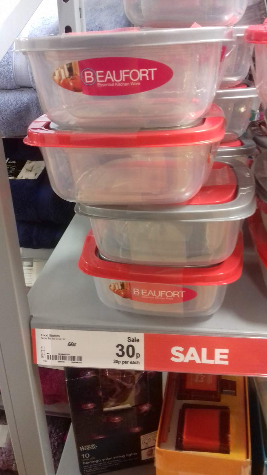 beaufort small nestable storage sandwich boxes 2 pack 30p asda