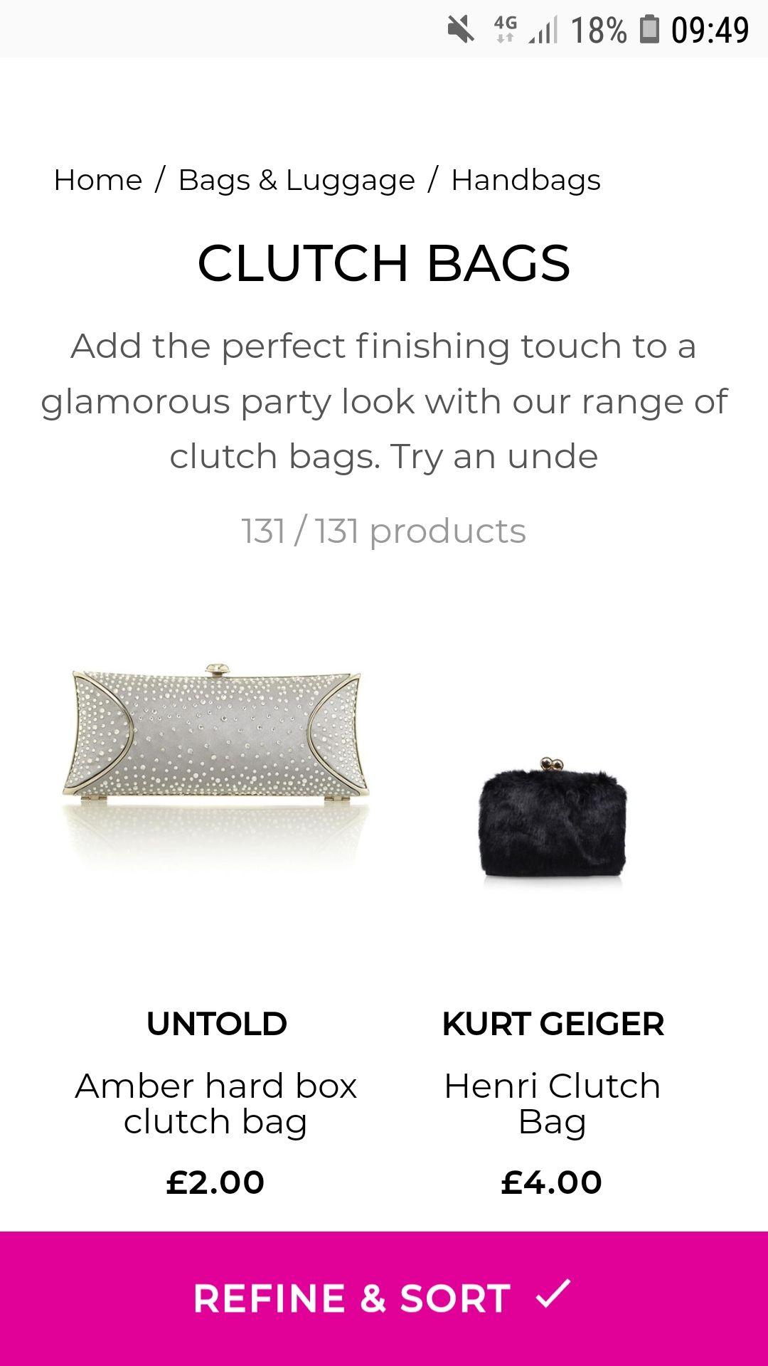 8c177211ba7d Untold Amber Hard Box Clutch Bag