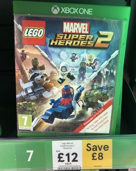 Lego Marvel Super Heroes 2 Xbox One Tesco 12 00 Hotukdeals