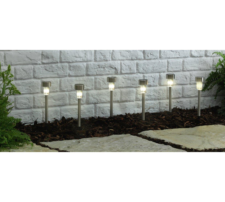 Solar Lights Home Bargains: Stainless Steel Solar Marker Lights