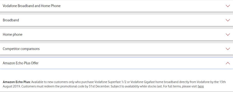 Vodafone Fibre Home Broadband Unlimited Downloads 18 month