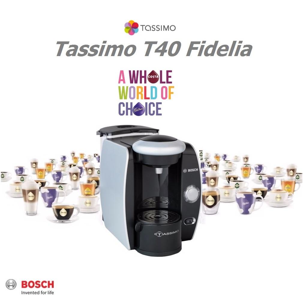 Tassimo By Bosch Fidelia Coffee Machine Tas4011gb Silver