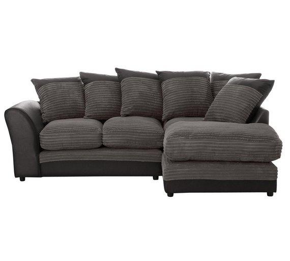 Argos Corner Sofa Jumbo Cord: HOME Harley Regular Fabric Right Hand Corner Sofa In