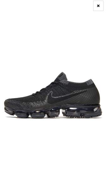 competitive price e365a 76986 151° - Nike Air Vapormax FlyKnit Black Mens Online JDSports ...