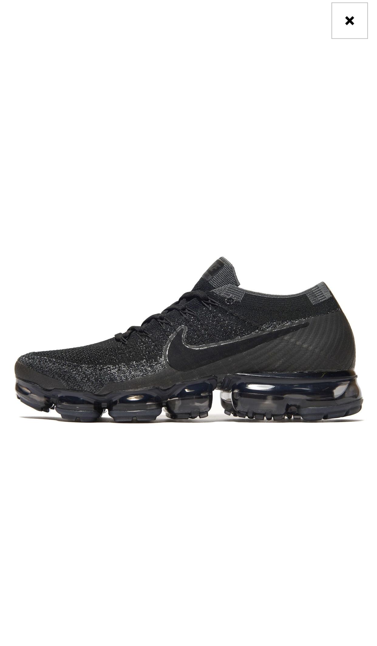 competitive price de8cd e2fb5 151° - Nike Air Vapormax FlyKnit Black Mens Online JDSports ...