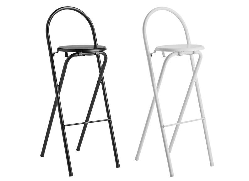 Excellent Habitat Macadam Metal Folding Bar Stools Black Or White Gmtry Best Dining Table And Chair Ideas Images Gmtryco