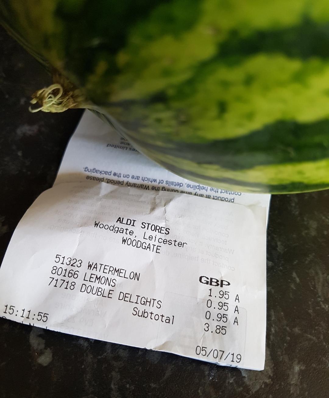 Whole Watermelon £1 95 @Aldi - hotukdeals