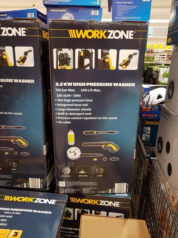 Workzone 2 2kw Pressure Washer Jetwash Reduced 163 59 99