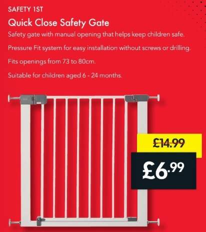 Quick Close Safety Gate 6 99 Reduced From 14 99 Lidl From The