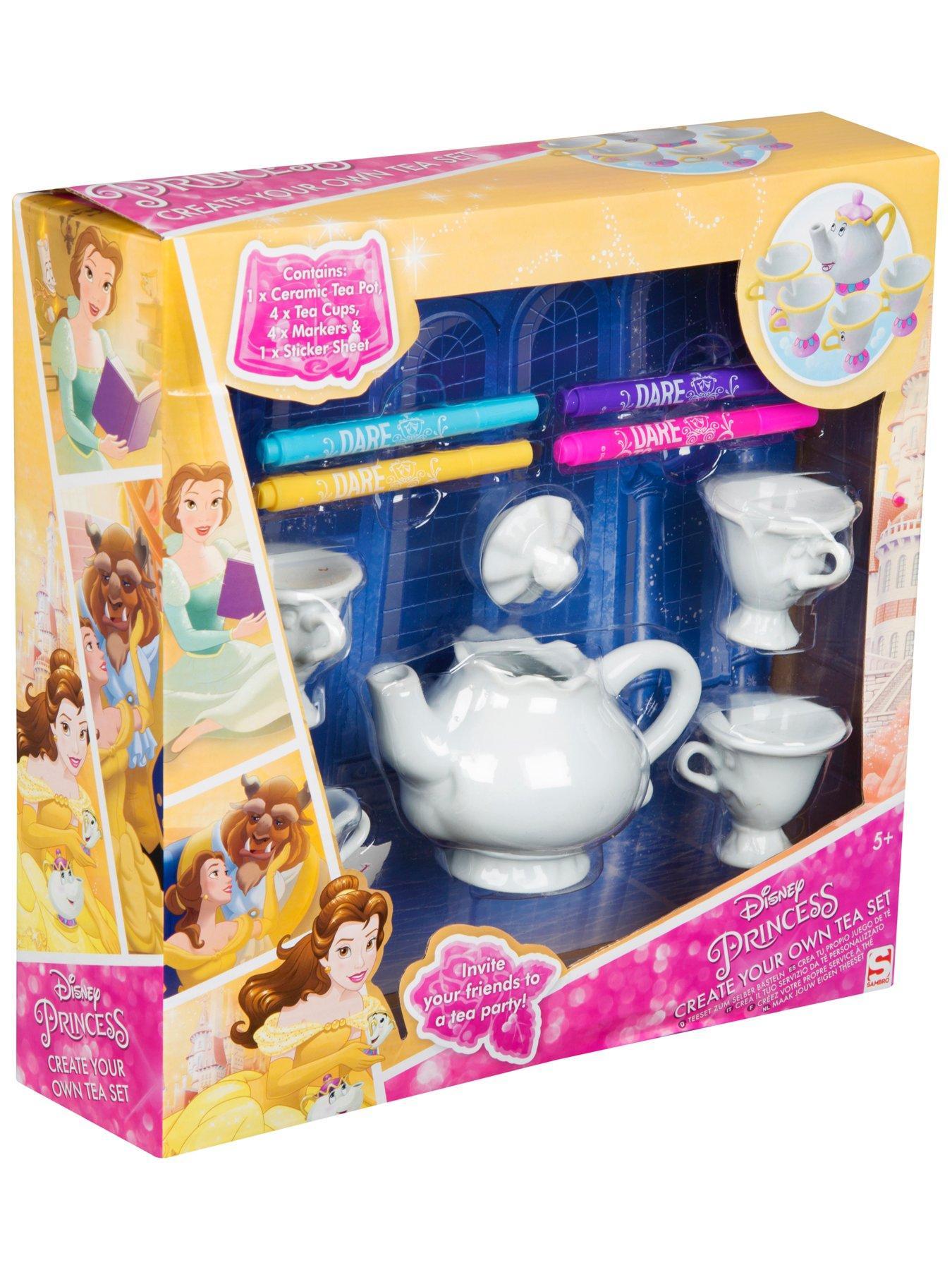 Disney Princess Belle Colour Your Own Mrs Potts Chip Tea