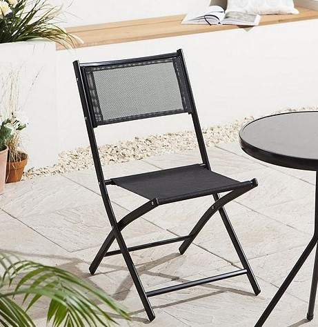With A Simple Folding Design This Tesco Garden Chair Is Perfect For Outdoor Living And Occasional Use It Features Lightweight Powder Coated Metal Frame