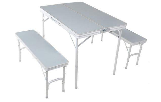 Urban Escape Folding camping table and Bench Set £40 at Halfords or ...