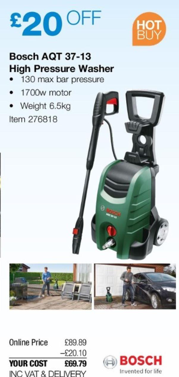 Bosch Aqt 37 13 High Pressure Washer For 69 79 Delivered Starts 4