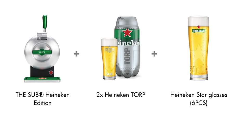 The Sub for £59 99 (see description) + 16 Heineken Torps (£69 99