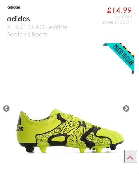 54caed730974 Mens adidas X 15.2 FG AG Leather Football Boots -Lace fastening -adidas  logo to heel -Suitable for Firm ground and Artificial grounds - X-CAGE  thin, ...