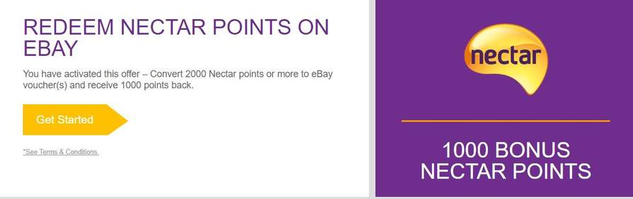 Convert 2000 Nectar Points To Ebay Voucher S And Receive 1000 Back Account Specific Via Email Invite Only