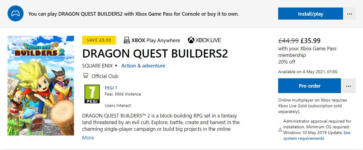 Nuevo juego de Square Enix a Xbox Game Pass