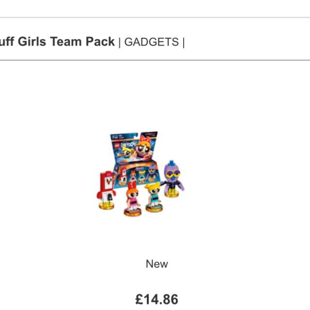 Lego Dimensions Teen Titans/Power puff girls fun packs and team ...
