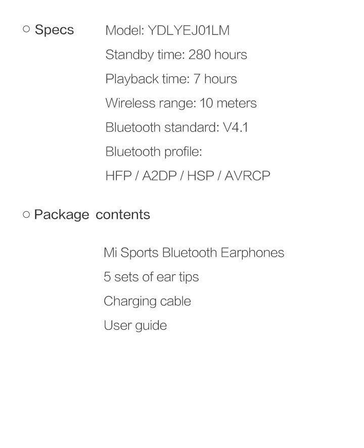 Xiaomi Mi Sports Bluetooth Earphones £7 49 Via App Delivered