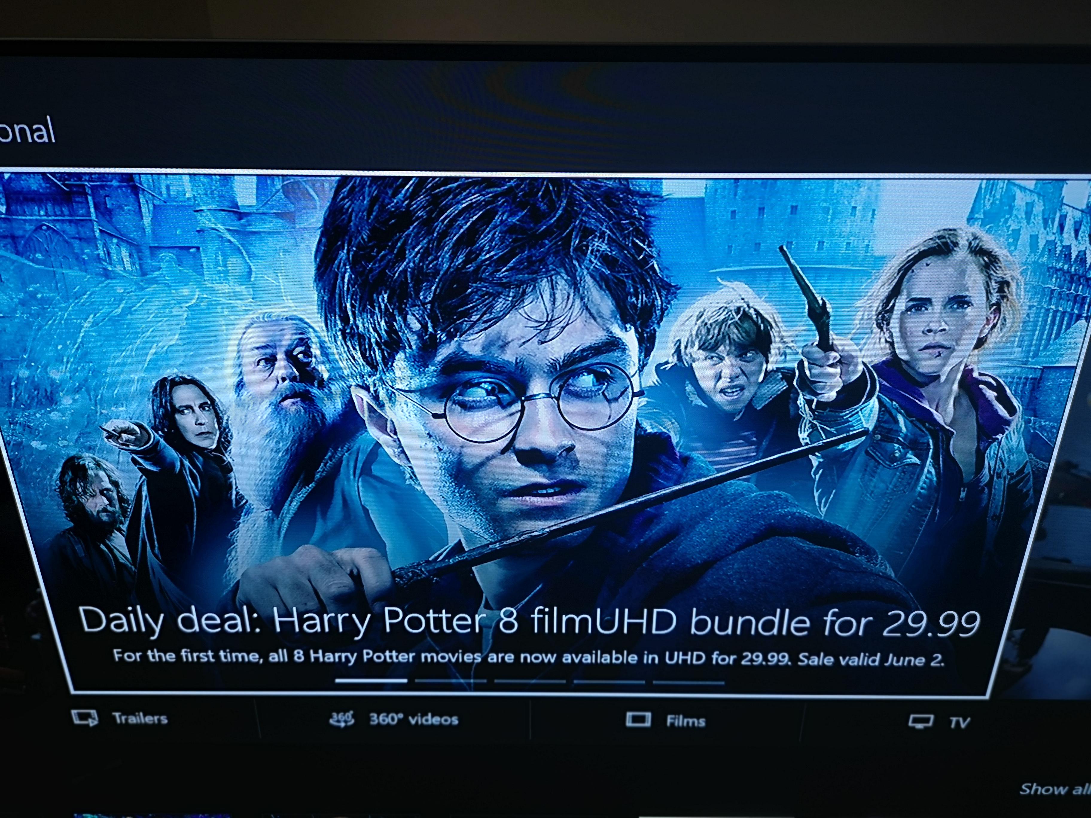 Harry Potter 8-Film 4K UHD Bundle - £29 99 @ Microsoft