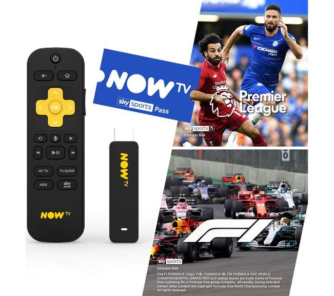 Now TV Stick With Voice Remote & 3 Month Sky Sports Pass £49 99
