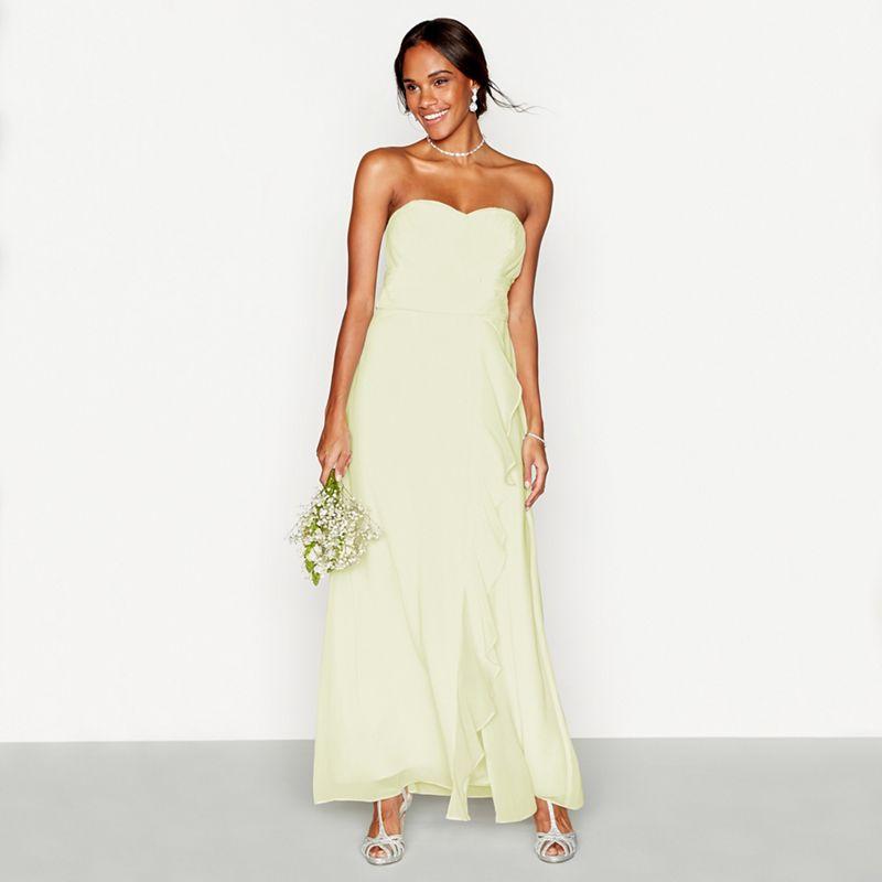 Debut Navy chiffon \'Sara\' full length bridesmaid dress (was £79) Now ...
