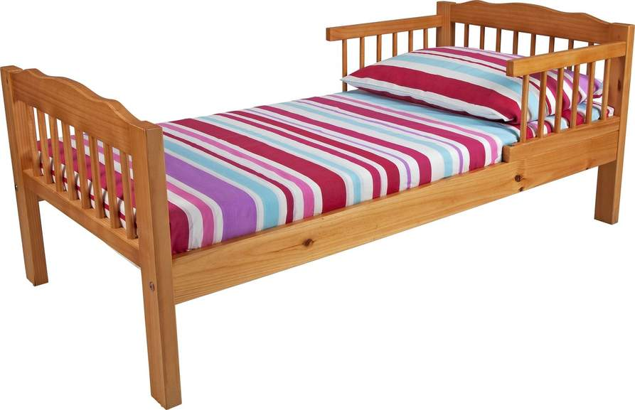 Its Easy To Assemble And Made From Solid Pine With A Lacquered Finish This Sturdy Bed Has The Extra Safety Addition Of Guard Rails Provide You