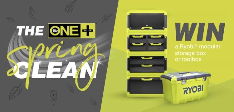 Win a Ryobi modular storage box or tool box  - hotukdeals