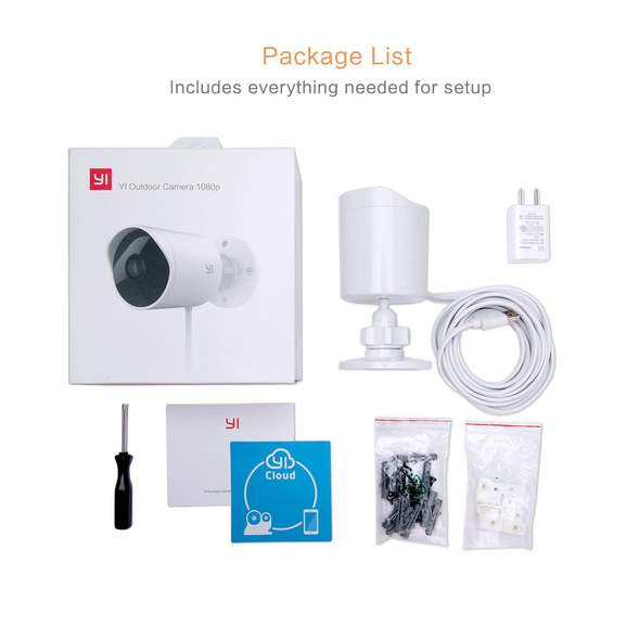 YI Outdoor Surveillance Camera, 1080P HD Wireless Security