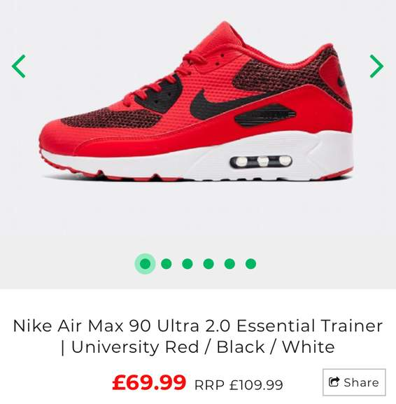 Nike Air Max 90 Ultra 2.0 Essential Trainers now £69.99   Footasylum Free  C C 4897fa5f351e