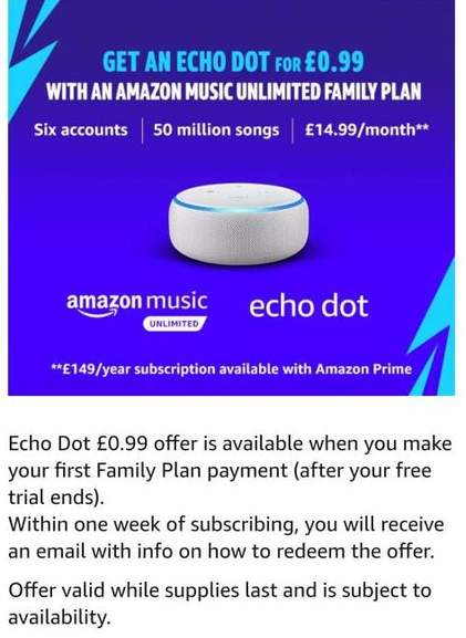 Get the Amazon echo dot for as little as 99p with an Amazon