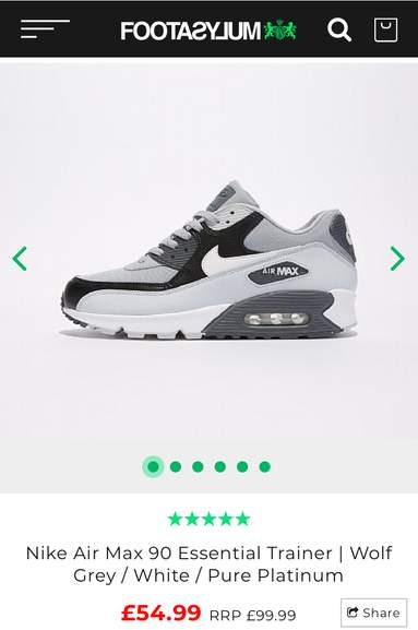 Nike Air Max 90 Essential Trainers Size 6 only £54.99   Footasylum Free c c 0460e3340