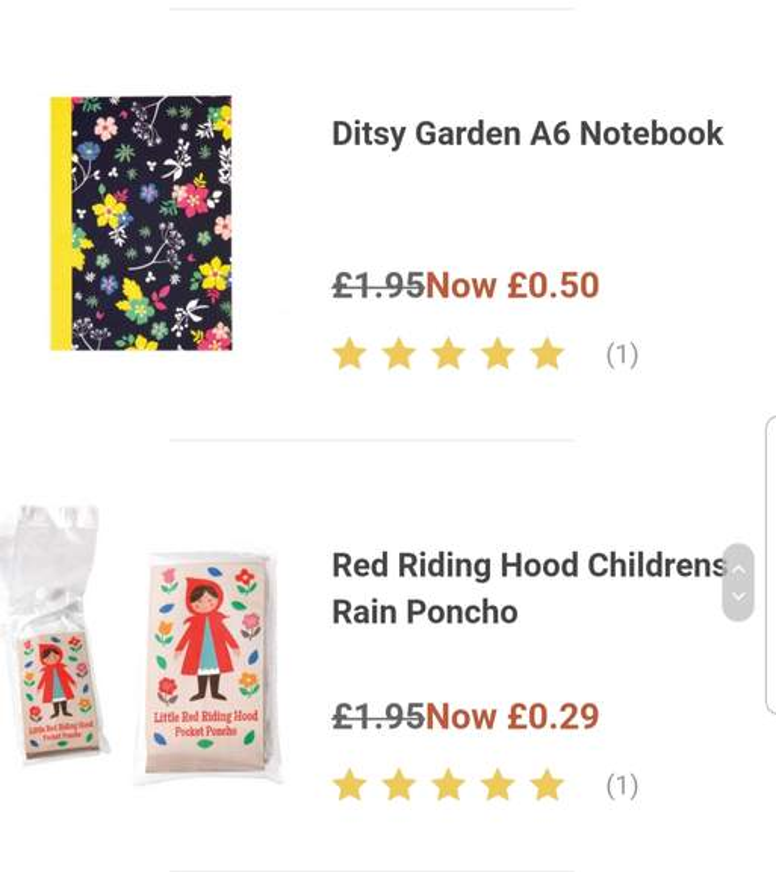 dotcomgiftshop RED RIDING HOOD CHILDREN/'S RAIN PONCHO