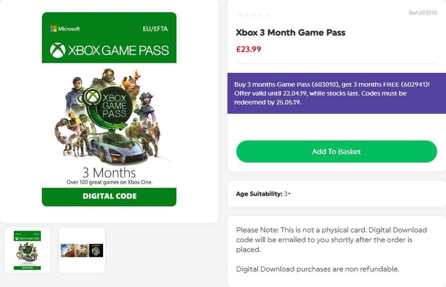 Xbox Game Pass | 3 months + 3 months for FREE (digital code