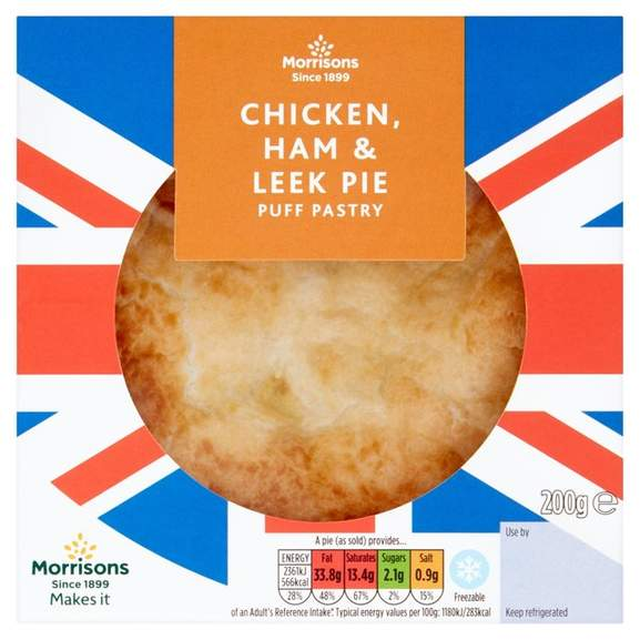 Morrisons 200g Pies £1 e.g. Shortcrust Steak & Kidney Pie ...