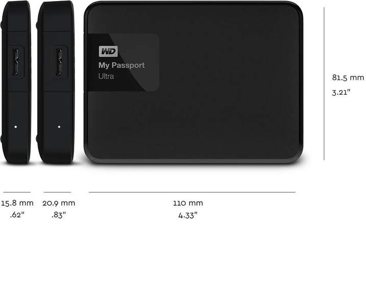 WD MY PASSPORT ULTRA 3Tb (RECERTIFIED) Black only - £56 99
