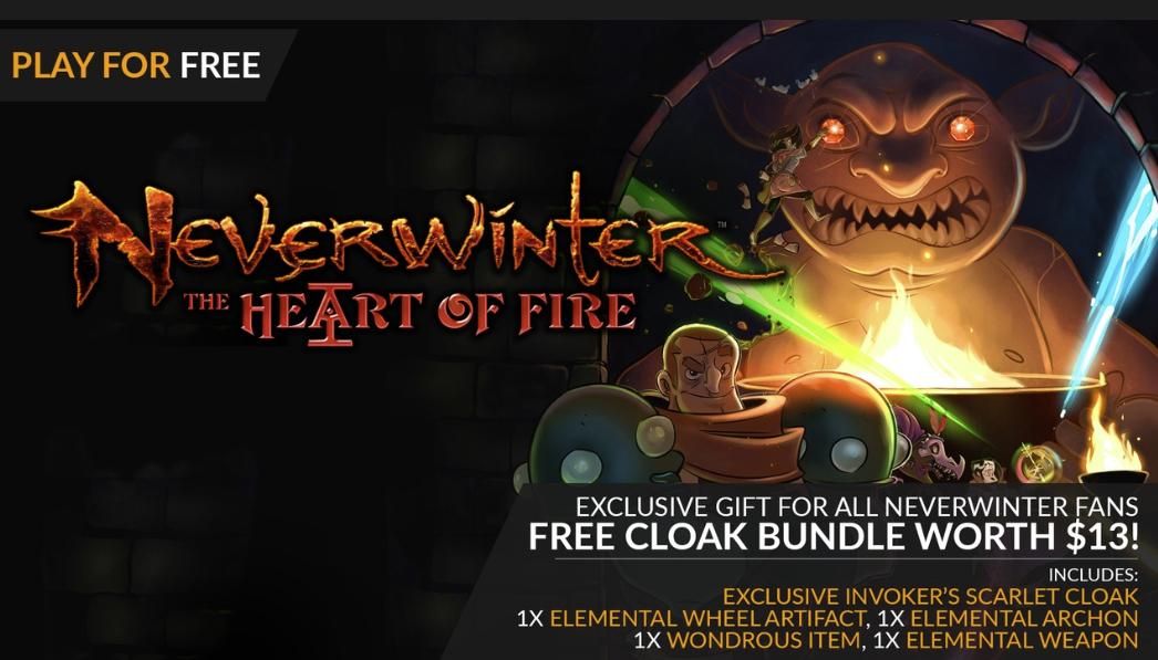 Neverwinter - The Heart of Fire FREE + Freebies via